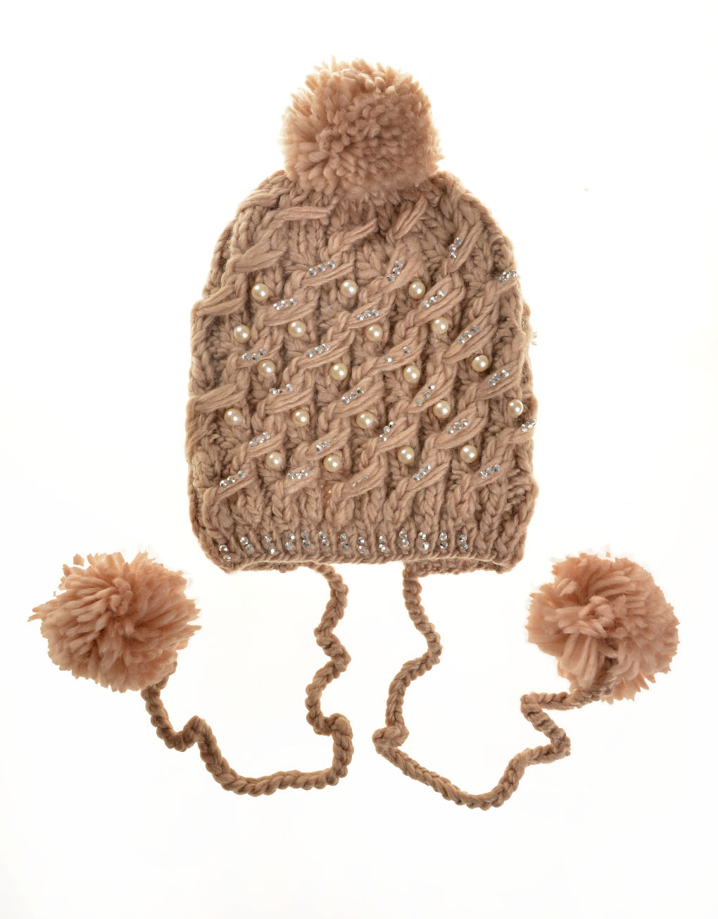 c236fdaeba743 Hand Knitted Hat With Diamonds And Pearls Wholesale Prices