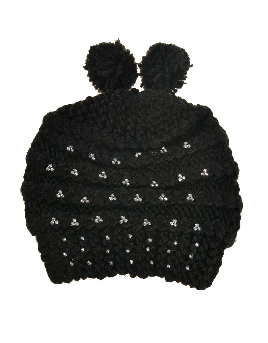 fca3ffd1be32e Hand Knitted Waves Pattern Hat with Diamonds Wholesale