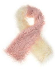 Two Tone Mongolian Fur Long Scarf