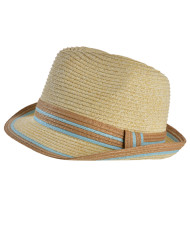 Ribbon Straw Fedora Hat