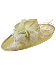 Lacy Feather Wedding Hat