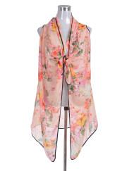 Summer Floral Print Beach Vest