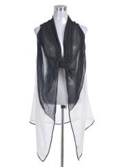 Black White Print Beach Vest