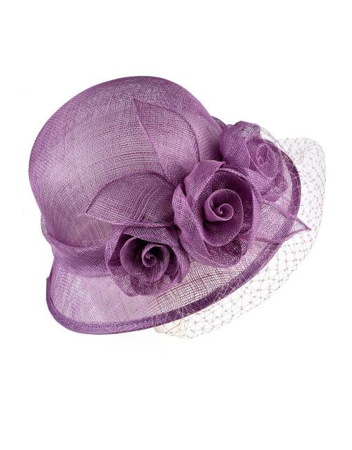 Floral Veil Wedding Hat