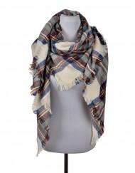 winter grid scarf