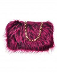 Faux Raccoon Fur Bag