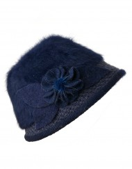Soft Fury Flower Woolly Hat