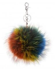 Multi Colour Fur Keyring