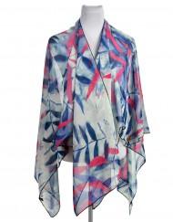Chiffon Leaves Print Beach Kaftan wholesale price