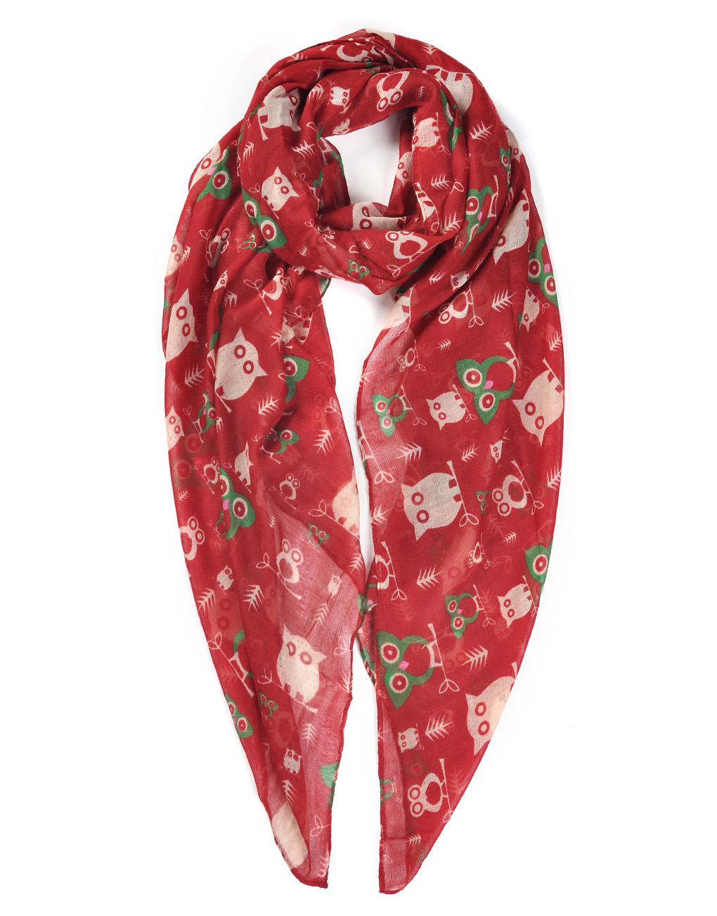 colourful cat pattern print scarf wholesale price