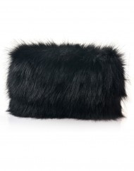 Plain Fur Folded Clutch Bag