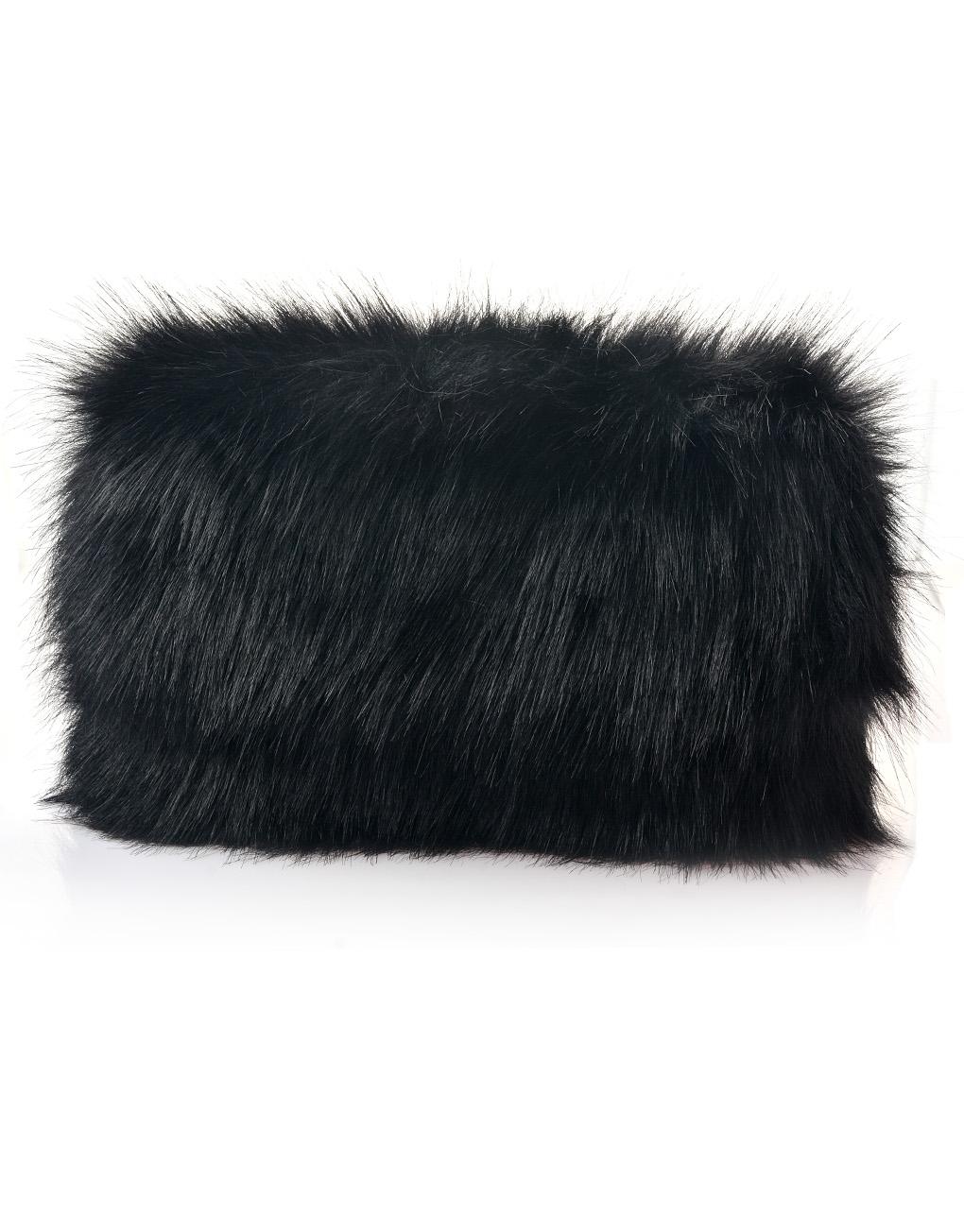 693d40161a8d Plain Fur Folded Clutch Bag - LUXE Wholesale