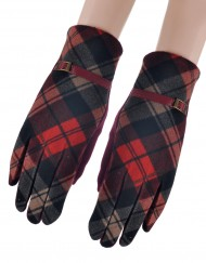 Grid Print Winter Glove Wholesale Price