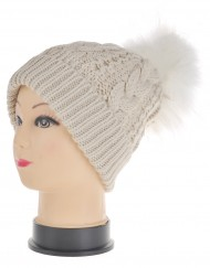 Flip Brim Pompom Beanie Hat Wholesale Price