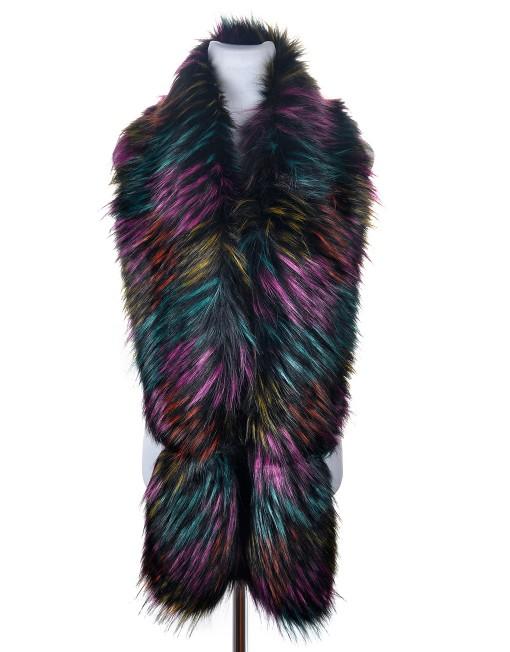Luxury Long Faux Fur Scarf