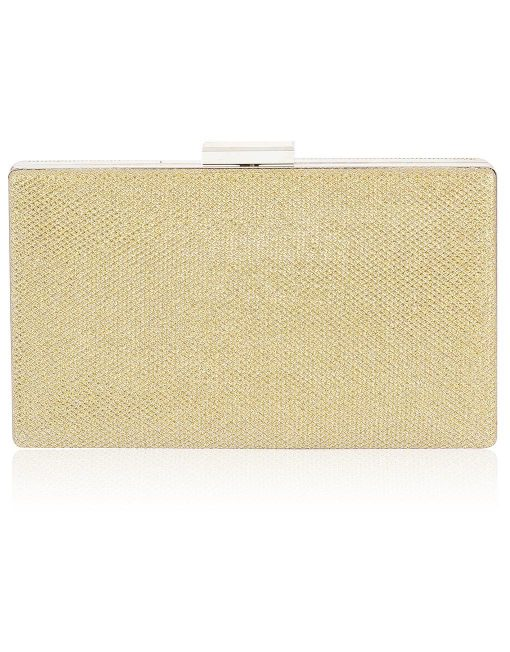 Plain Shining Rectangle Clutch Bag