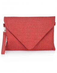Croc Effect Envelope Clutch Bag