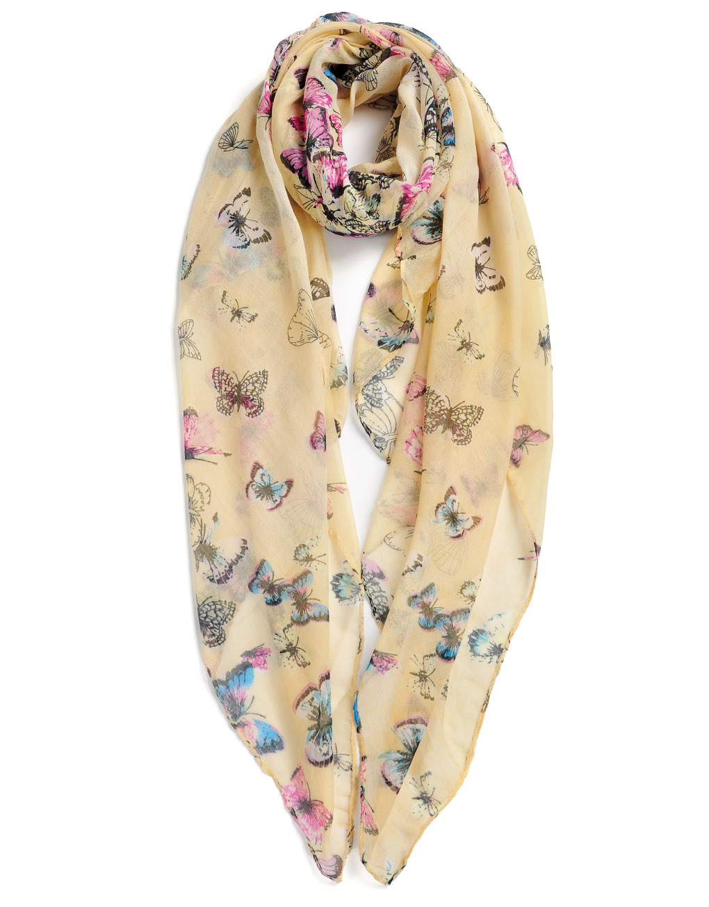 parisian chic butterfly printed scarf luxe wholesale