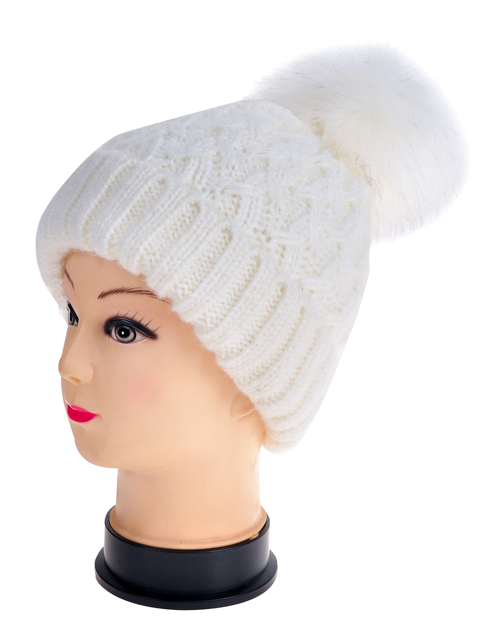 3cdae61004 Twisted Twill Pompom Beanie Hats - Luxe Wholesale