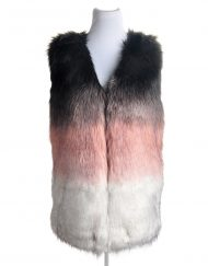 Triple Gradient Colour Fur Gilet