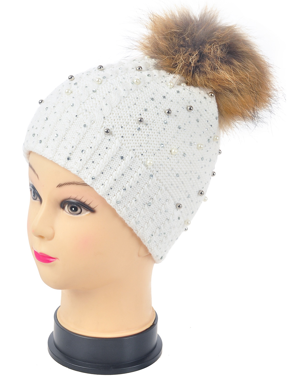 0ed0797d1c54d Pearl And Diamonds Knitted Pompom Hats Wholesale Price