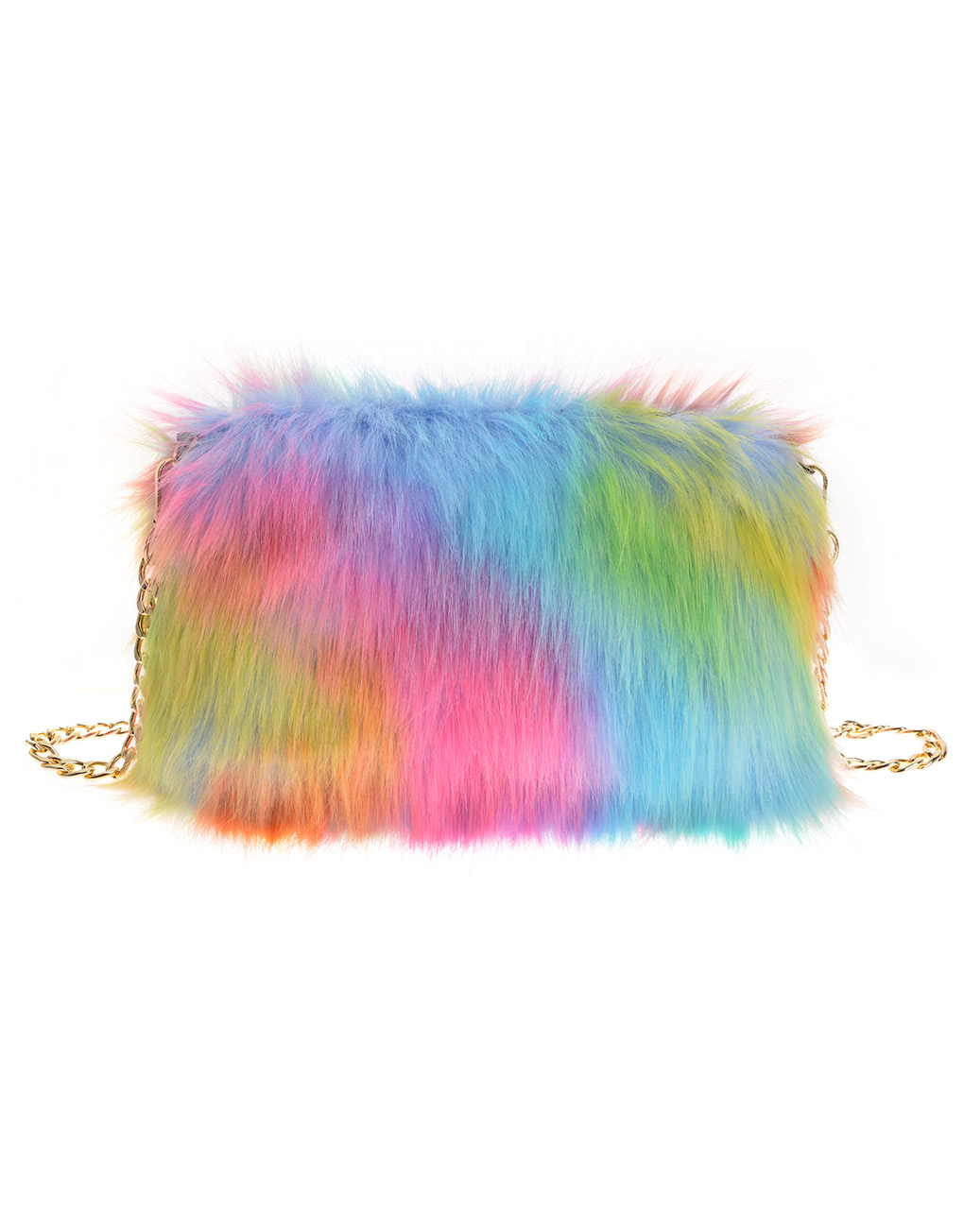 af6c017bd2c Rainbow Colour Fur Bag