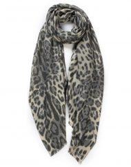 Plain Leopard Print Cashmere Scarf