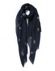 Gold Foil Bee Print Scarf