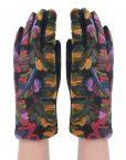 Colourful Woolen Yarn Pattern Surface Glove