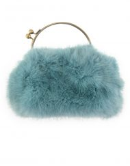 Gold Chain Fur Handbag