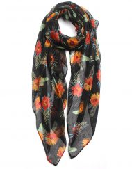 Exotic Big Floral Print Scarf