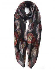 Flower Colourful Circles Print Scarf