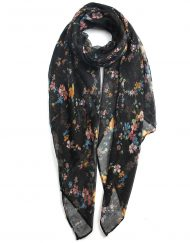 Rainbow Colour Small Flower Print Scarf