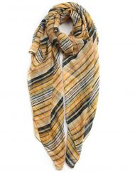 Colourful Band Dots Print Scarf