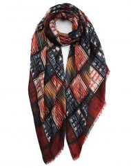Colourful Quadrangle Windows Print Scarf