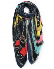 Colour Rope And Cord Print Scarf