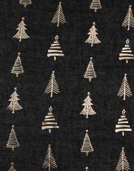Little Xmas Tree Foil Print Scarf
