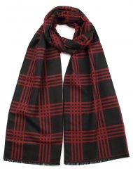 Check and Net Print Men's Scarf