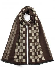 Small Chess Board Print Men's Scarf