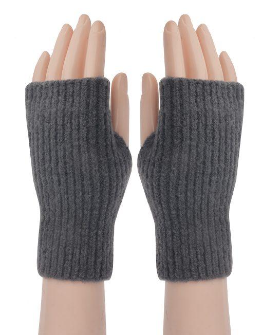 Plain Knitted Fingerless Glove