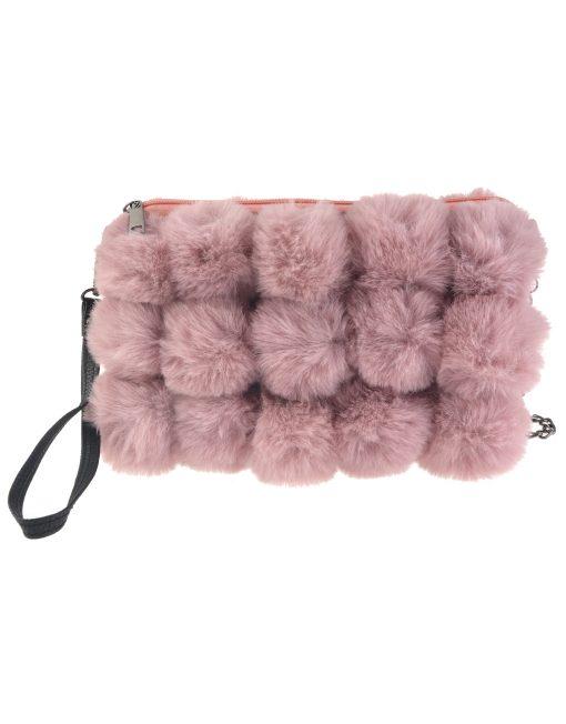 Fluffy Pompoms Fur Bag