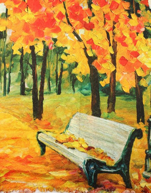 Artistic Oil Painting Print Scarf