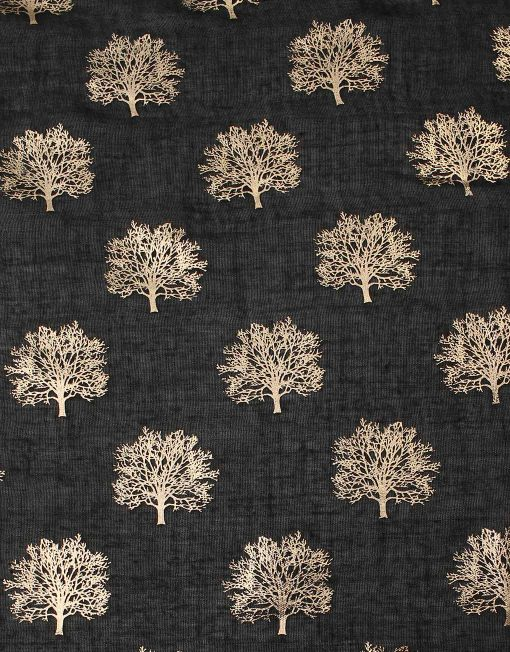 Gold Foil Oak Tree Print Scarf