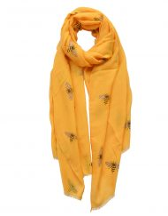 Lovely Yellow Bees Print Scarf