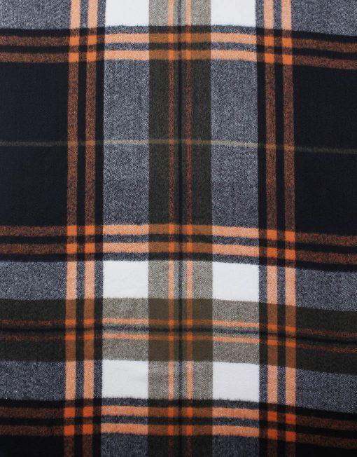 Pompom Check Pattern Winter Scarf