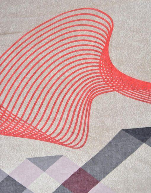 Wave Block Increased Density Fabric Scarf