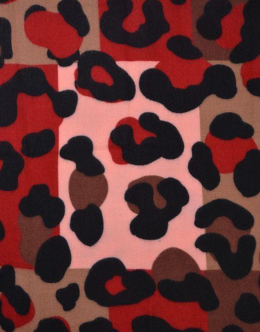 Large Leopard Print Winter Scarf