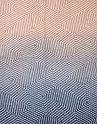 Gradient Colour Maze Print Scarf