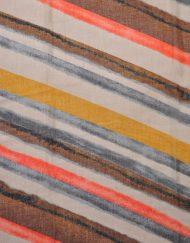 Diagonal Stripe Print Scarf